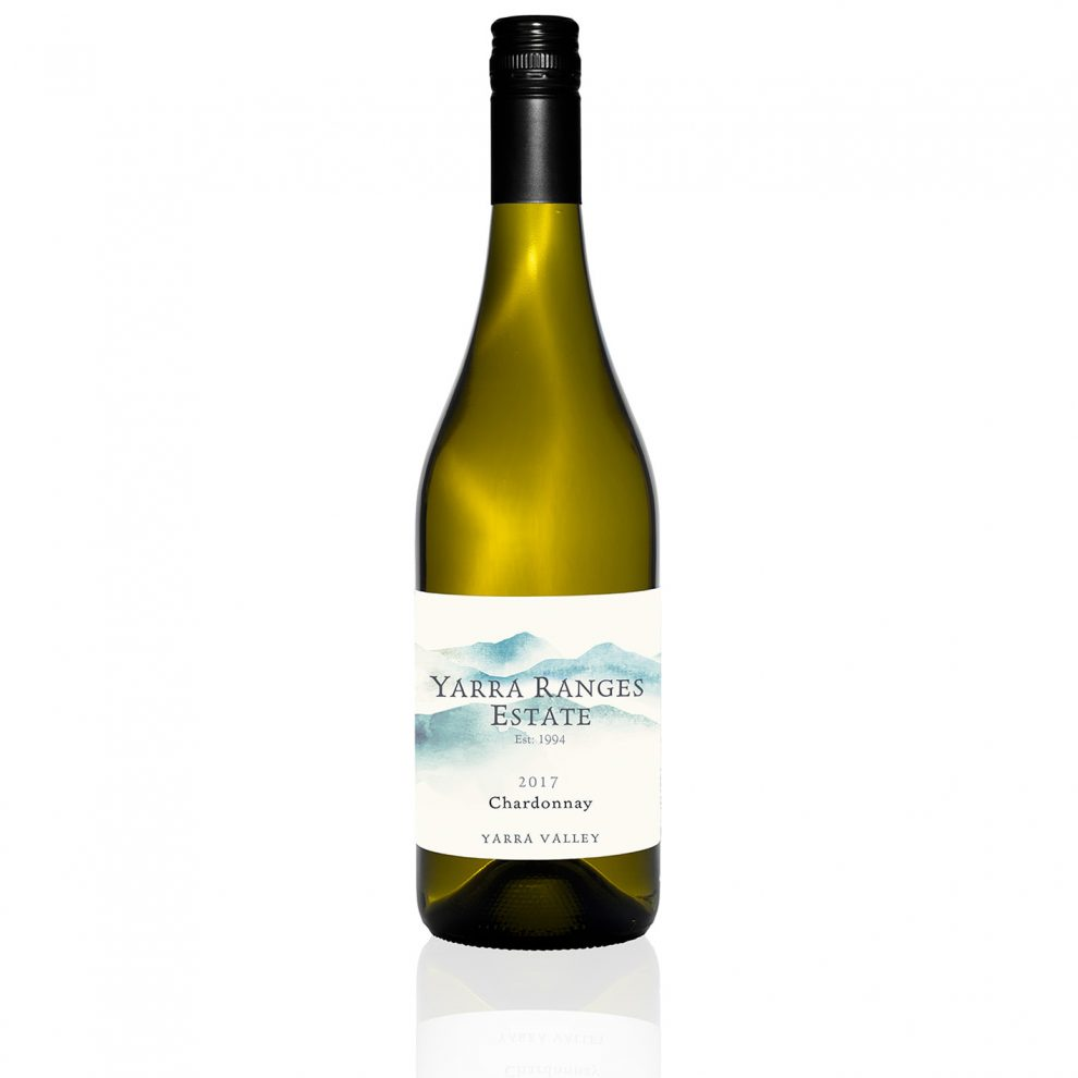 Bottle of wine from the Yarra Ranges Estate 2017 Chardonnay