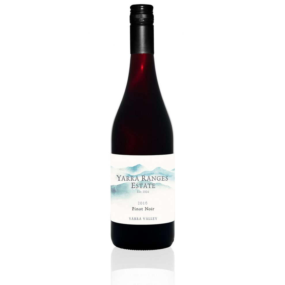 Bottle of wine from the Yarra Ranges Estate'Pinot Noir'