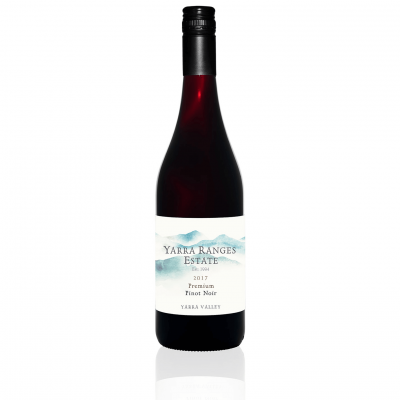 Bottle of wine from the Yarra Ranges Estate 2017 Pinot Noir